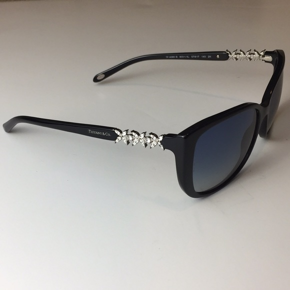 4a06150859 Accessories - Tiffany   Co Black Gradient Sunglasses Crystals